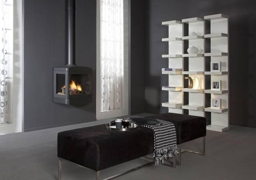 gaskamin skive modell wandkamin dreiseitig. Black Bedroom Furniture Sets. Home Design Ideas